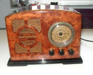 ART DECO 1934 BAKELITE DESIGN STEEPLETONE LM/AM/FM RADIO CASSETTE PLAYER VINTAGE