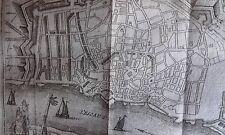 Plan de ville d' ANVERS HARREWYN GRAVURE originale DELICES des PAYS BAS 1711