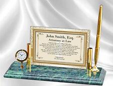 Law School Graduation Gift Clock Pen New Lawyer Attorney College Graduate Bar