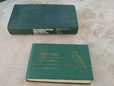 New listing 2 Bird identification watching books 100s color pictures Audubon Society bird