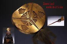 Japan Antique Edo big Ushirodate battle flag yoroi kabuto Armor katana samurai 扇