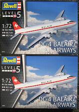 2x REVELL 04947 - Douglas DC-4 Balair /Iceland Airways 1:72 Flugzeug Bausatz Kit