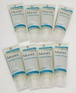 8X Murad Clarifying Cleanser Acne Treatment Step 1 Cleanse/ Tone 1.5 fl oz each