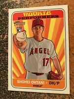 Shohei Ohtani Angels RC 2018 Topps Heritage High Number Rookie Performers Insert