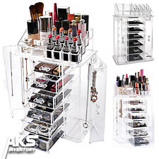 New Clear Acrylic Display Makeup Cosmetic Jewelry Box Organizer Drawer Storage