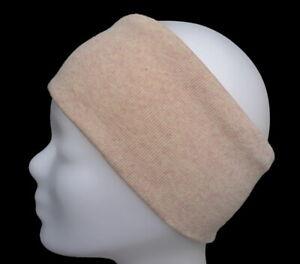 hochwertiges Stirnband Haarband Ohrwärmer 95% Baumwolle 5% Elasthan orange rosa