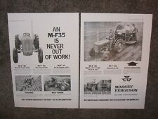 1961 MASSEY FERGUSON 35 TRACTOR ADVERT POSTERS (COPY) CLASSIC/VINTAGE/M.F./SHOW