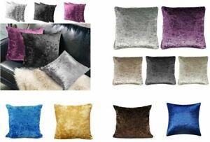 24X24 INCHES Plain Luxury Plush Crushed Velvet Cushion Covers 17 X 17 inches