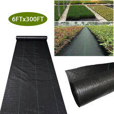 6Ftx300Ft Weed Barrier Fabric Woven Earthmat Ground Cover Landscape Garden Mesh