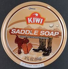 KIWI SADDLE SOAP & LEATHER CARE Jumbo 3 1/8 oz (88g) cans
