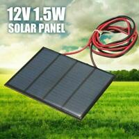 1.5W 12V Mini Power Solar Panel Small Cell Phone Module Wire W/ DIY Charger L3U0