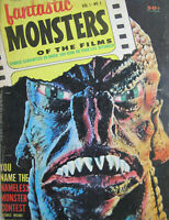 1962 FANTASTIC MONSTERS Magazine #3 VG/FN Black Lagoon Creature Fold-Out Poster