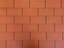 Dachschindeln 6 m² Rechteck Form Ziegelrot (2 Pakete) Schindeln Dachpappe