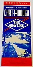 Vintage GRAY Line BUS Tours TRAVEL Brochure CHATTANOOGA TN Motor SIGHTSEEING