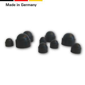Schutzkappen f/ür Schrauben M12 50 Stck Schwarz Abdeckkappen Blindstopfen Endkappen f/ür Schl/üssel 19