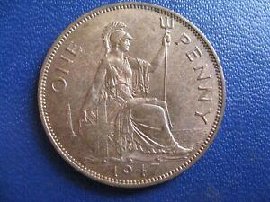 George VI Penny 1947 S.4114  aUNC grade with lustre