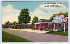 BATON ROUGE, Louisiana LA ~ Roadside BELLEWOOD HOTEL COURTS c1950s  Postcard
