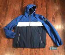 Tommy Hilfiger Mens Colorblock Hooded Jacket Blue...