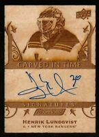 2019-20 Upper Deck Engrained Carved in Time Signatures Henrik Lundqvist B