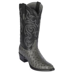 Men's Los Altos Genuine Full Quill Ostrich Western Boots Round Toe Medium (D)