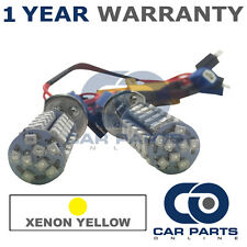 2X CANBUS YELLOW H1 60 SMD LED FOG LIGHT BULBS FOR FORD FIESTA GALAXY MONDEO