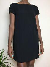 miu miu Black Dress Size Italian 44 UK 12 LBD Short Knee Cocktail A-line