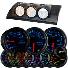 03-07 Mazda 6 Triple Gauge Dash Pod + 3 GlowShift Tinted 7 Color Gauges