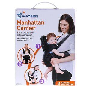 Dreambaby MANHATTAN CARRIER padded adjustable, black baby kid safety