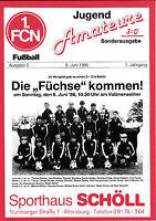 DM A-Jugend 1985/86 1. FC Nürnberg - Reinickendorfer Füchse, 08.06.1986