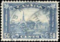 1930 Used Canada 50c F-VF Scott #176 King George V Arch/Leaf Stamp