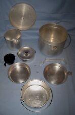 VTG Aluminum Camping Nesting Pot Pan Cook W/Pot/Fry Pan & More!