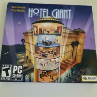 Hotel Giant PC CD ROM Game, Enlight Hotel Giant Simulation Game