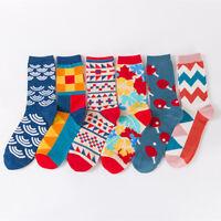 happy funny men long Socks Cartoon pingpong Geometric design women Cotton Socks
