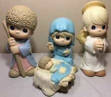 """Large Precious Moments 12"""" Nativity Set Mary Baby Jesus Joseph Angel Boy Rare"""