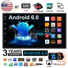 """7"""" Android 6.0 Car Radio Stereo MP5 Quad Core 3G WIFI Double 2DIN Player GPS HW"""