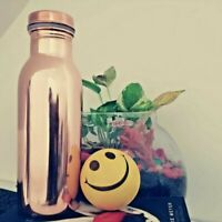 100%Copper Traditional Copper Bottle Water Storage Flask Ayurveda Health Benefit