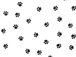 """Cats Dogs Paws Tissue Paper Black Paws Gift Wrap 12 Sheets 20x30"""" Holiday Gifts"""