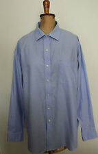 TOMMY HILFIGER ~ Mens Blue Pinpoint Cotton Oxford Long Sleeve Business Shirt 18