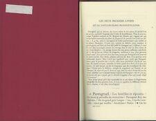 LES EDITIONS DE RABELAIS *Pierre Paul Plan  Bibliography Literature Criticism
