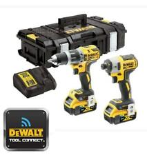 Dewalt DCK2500P2 18v Brushless Blue Tooth Combi Drill & Impact Driver Twin Kit
