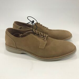 Express Men's Tan Leather Oxford Shoes Round Toe Lace Up Size 10 NWOB