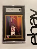 Michael Jordan SGC 7 Skybox 1990 Collector Card Man Cave Chicago Bulls INVEST