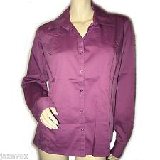 GEORGE Womens Button Down Shirt Collar Top Purple Long Sleeve Office Wear XXL 20