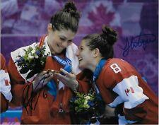 Auto Laura Fortino Rebecca Johnston Team Canada 2014 Sochi Olympics Womens 8x10