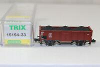 n3194, Minitrix 15194-33 offener Güterwagen & Kohleeinsatz der DB mint BOX NEM K