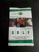2001 Upper Deck Golf -  1 SEALED Green Hobby box Pack  - Tiger Woods Rookie?????