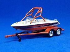 Johnny Lightning Fishing / Ski / Wave Trasher Boat /Trailer Copper Rare 1:64