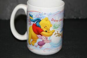 Winnie the Pooh Coffee Cup Mug Disney Snow Day Tigger Eeyore Piglet Winter