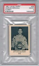 1952 Laval Dairy Subset Hockey Card Chicoutimi #36 Marius Groleau Graded PSA 2