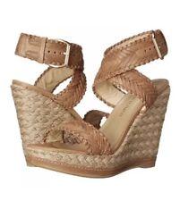 Stuart Weitzman Elixir Women's Brown Leather Wedge Sandal Sz 10M 4301
